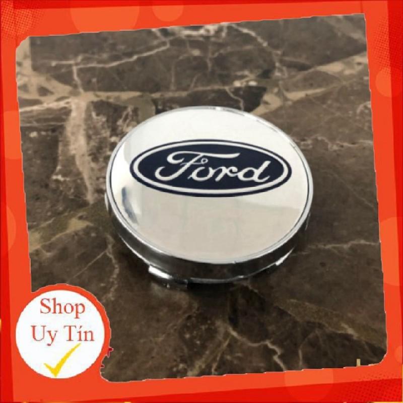 Logo Chụp Mâm Bánh Xe Ô Tô, Xe Hơi Ford Ford - 60Mm: Mầu Bạc Và Xanh Tím Than.C