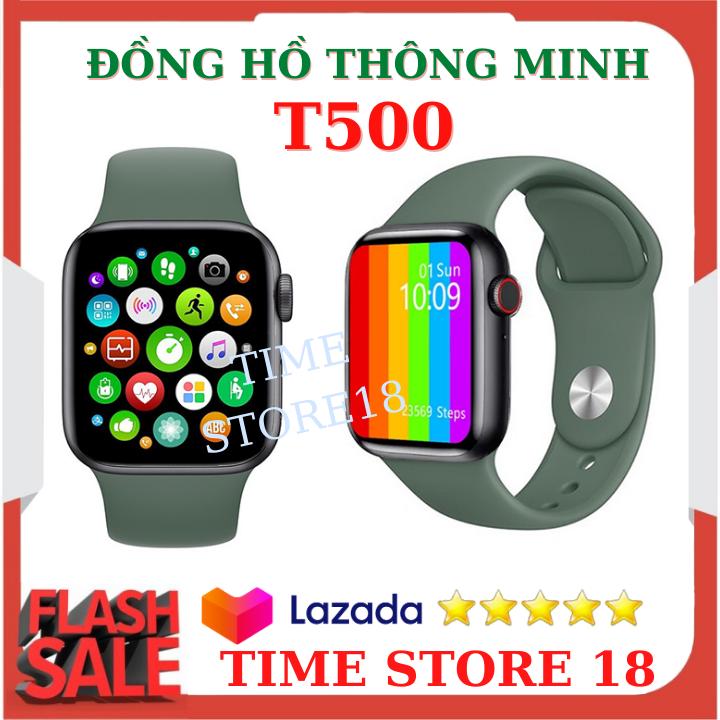 Đồng hồ thông minh T500 Smart Watch seri 5 chống nước, đo nhịp tim theo dõi sức khỏe của bạn