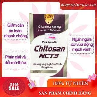 Viên uống giảm cân giáp xác Chitosan NCT3 giúp cơ thể săn chắc, chuyển hóa chất béo dư thừa, ngăn ngừa xơ vữa động mạch vành- an toàn hiệu quả, không có tác dụng phụ hộp 60 viên thumbnail