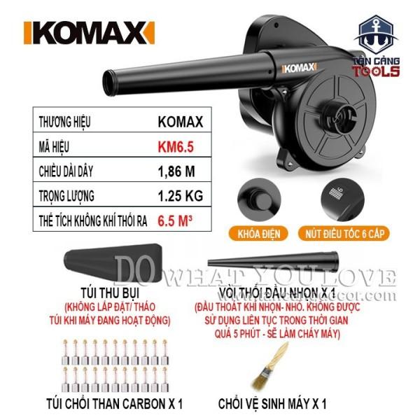 Máy Hút Thổi Bụi Có Điều Tốc Komax KM6.5