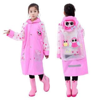 Áo mưa trẻ em cao cấp hình thú đáng yêu cho bé 4-10 tuổi Baby-S – SAM005