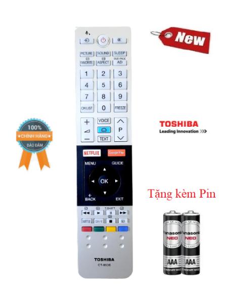 Bảng giá Điều khiển tivi Toshiba giọng nói CT 8536- Hàng chính hãng Tặng kèm Pin