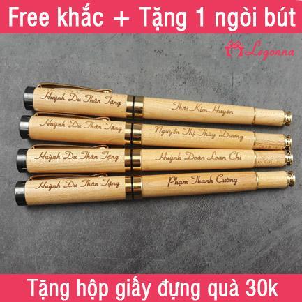 Quà tặng ý nghĩa - Bút gỗ khắc laser Legonna BG01A