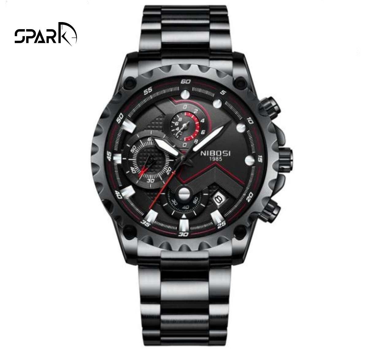 Đồng hồ nam NIBOSI Dây kim loại đẳng cấp + Tặng hộp đồng hồ + Pin bán chạy