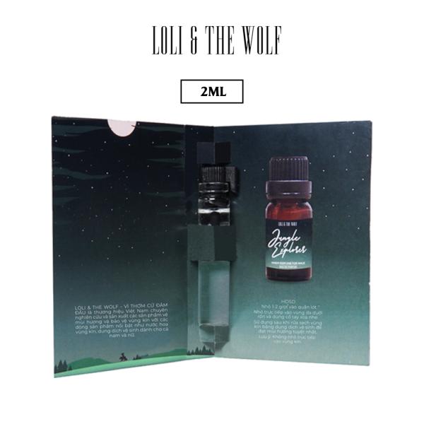 Nước hoa vùng kín nam Jungle Explorer chai 2ml nhỏ gọn tiện lợi - LOLI & THE WOLF cao cấp