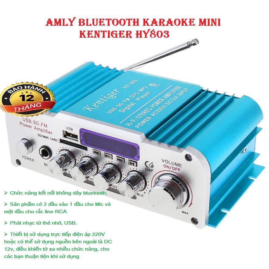 Amply 12V Amply Karaoke Amly mini Karaoke Kentiger HY 803 Cao Cấp Kết Nối Bluetooth Nhanh Chóng Bass Chuẩn Âm Thanh Hay Bảo Hành Uy Tín.