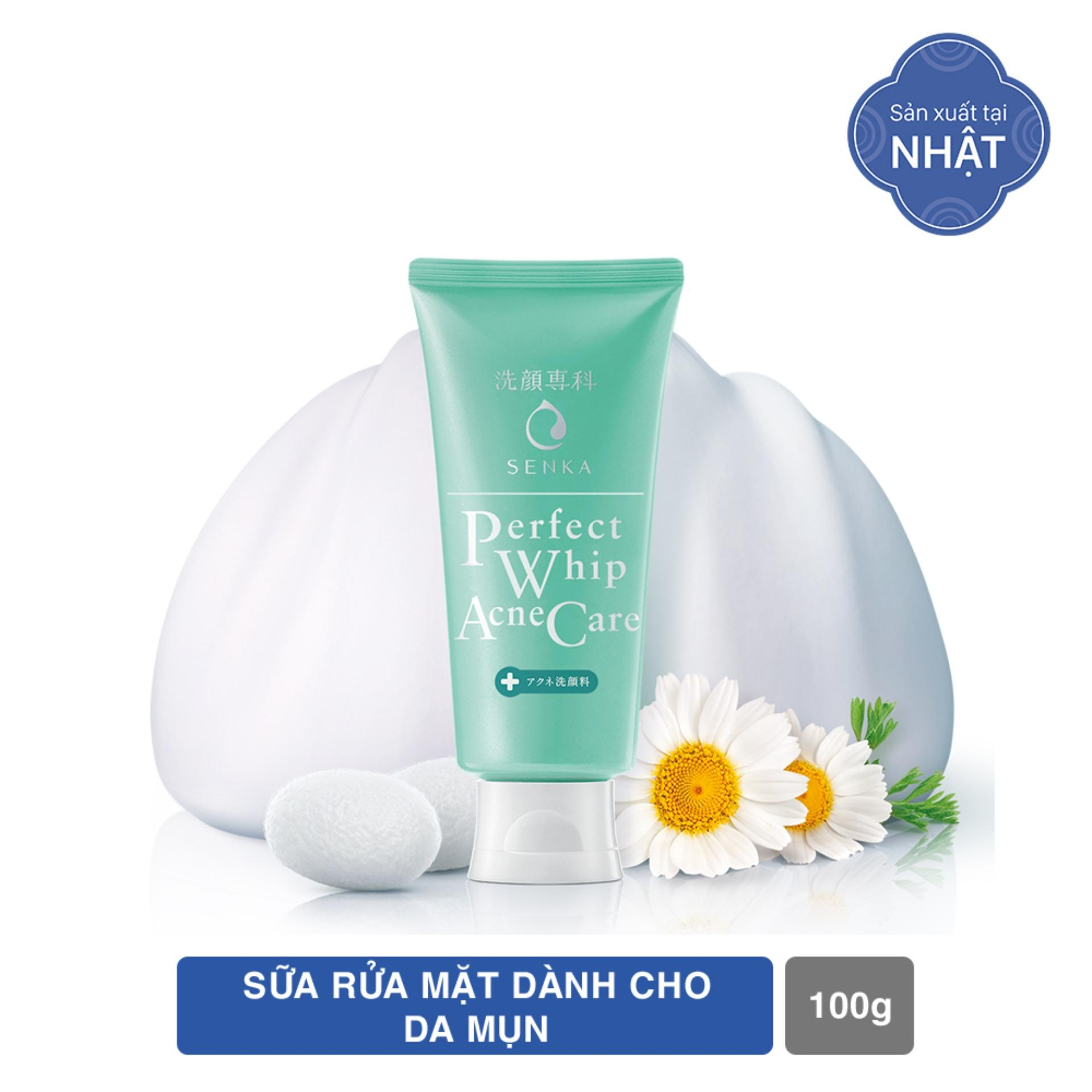 Deal Ưu Đãi Sữa Rửa Mặt Giảm Mụn Senka Perfect Whip Acne Care 100g