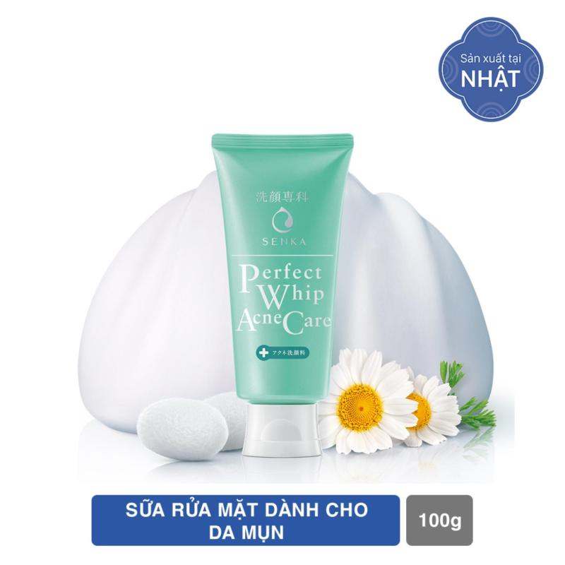 Sữa rửa mặt giảm mụn Senka Perfect Whip Acne Care 100g