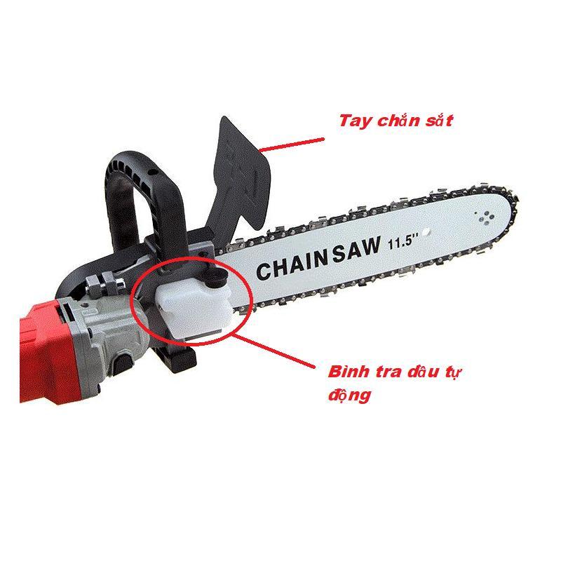 Bộ lưỡi cưa gắn máy cắt cầm tay( Loại xịn có bình tra dầu tự động gắn liền)