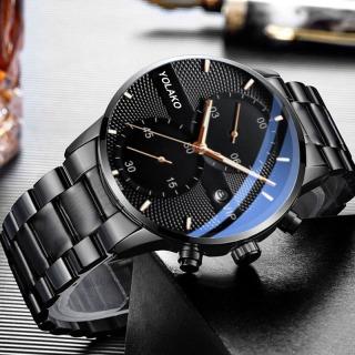 Đồng hồ nam YOLAKO VIP dây thép mạ đen chạy lịch ngày cao cấp EON38 thumbnail