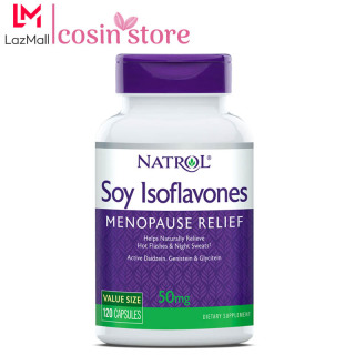 Viên uống Natrol Soy Isoflavones Menopause Relief 50mg 120 viên hỗ trợ ổn định nội tiết tố thumbnail