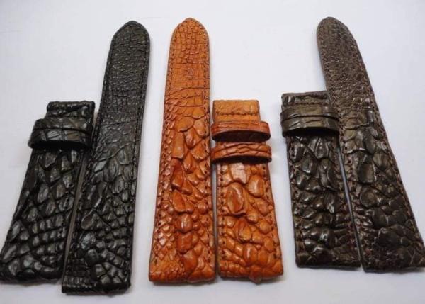 Nơi bán Dây Đồng Hồ Da Cá Sấu Loại Vân Gai Tay Cao Cấp -Tặng Kèm Khóa Dây Trị Giá 30.000 Đ Size 16-18-20-22 mm