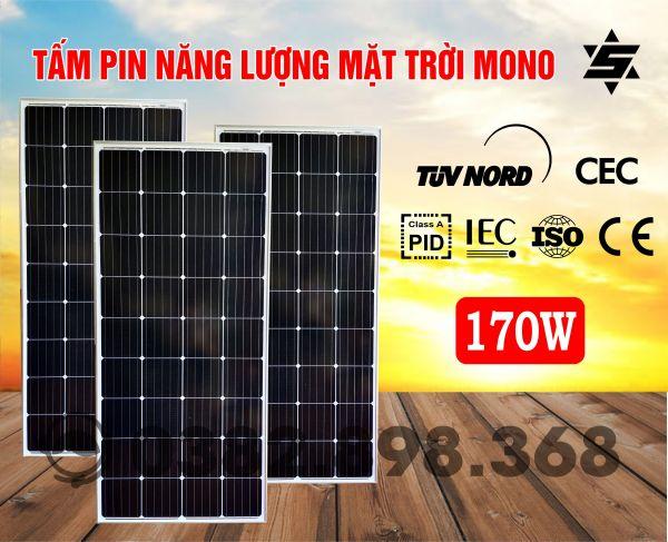 Tấm Pin Năng Lượng Mặt Trời 170W MONO