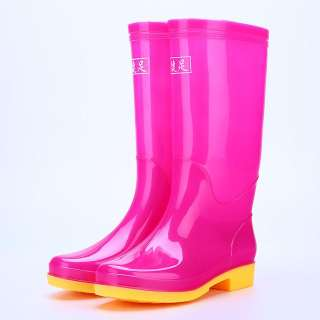 Fashion Women PVC Rain Boots Keep Warm Non-slip Wear-resisting Water Shoes