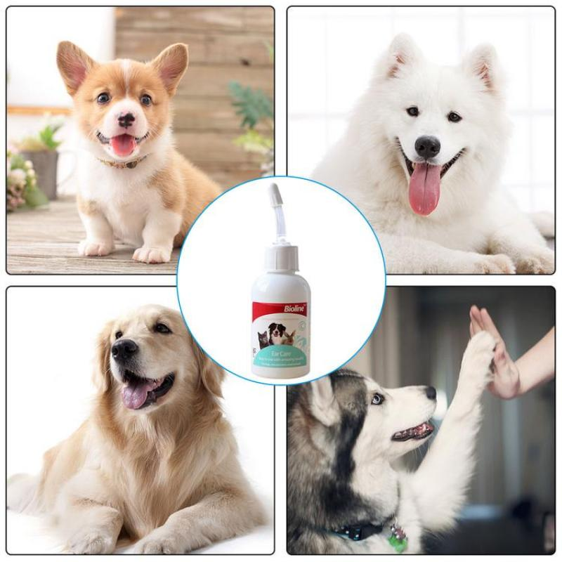 Dog Cat Ear - Drops Ear Cleaner Natural Formula Ear Cleaning Fluid for Clean Sterilize Fight Bacterium