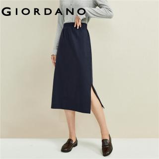 Giordano Beau Monde Women Single split elastic waistband skirt Free Shipping 13461780 thumbnail