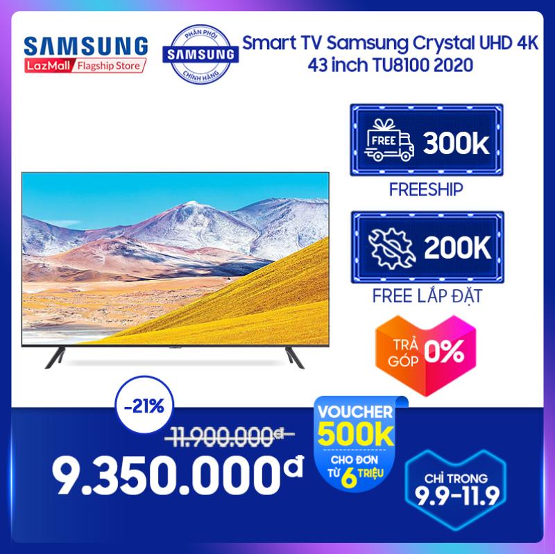 Bảng giá [FREESHIP 300K] Smart TV Samsung Crystal UHD 4K 43 inch TU8100 2020