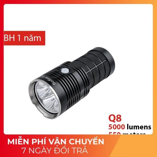 SOFIRN Q8 PRO| Đèn pin siêu sáng, độ sáng 5000lm, chiếu xa 550m, sử dụng 4 pin 18650 (đi kèm)