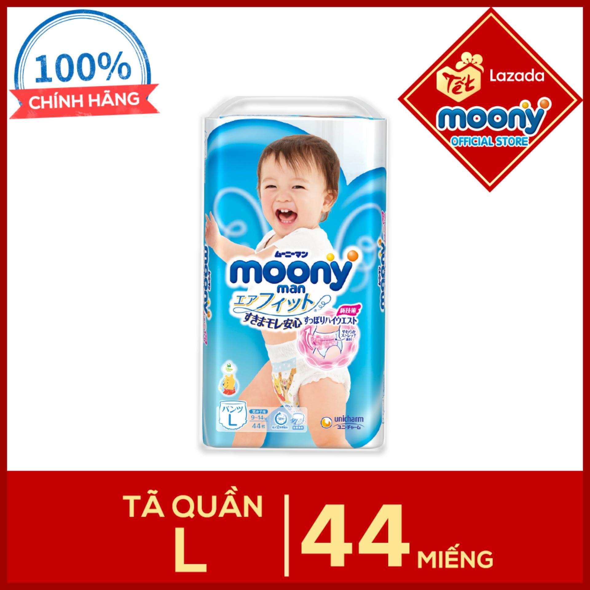 Tã quần Moony L - 44 miếng dành cho bé...