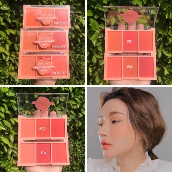 Bảng má hồng 3 ô Hengfei Chuẩn Thái