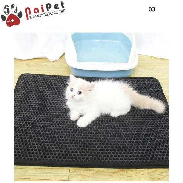 Thảm Lót Chậu Vệ Sinh Nhà Vệ Sinh Chống Văng Cát Cho Mèo
