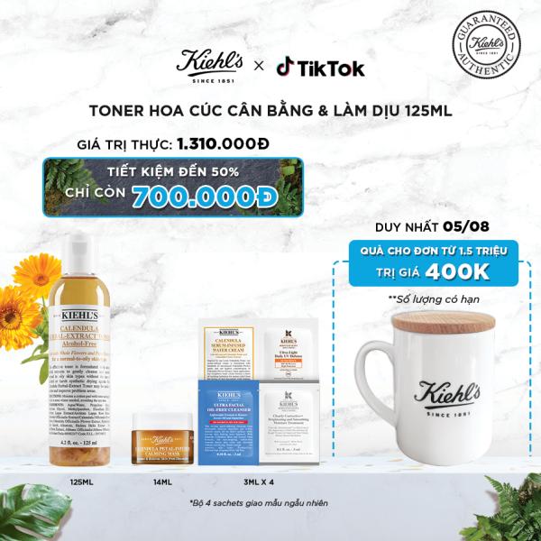 Nước cân bằng Hoa Cúc Kiehls Calendula Herbal Extract Alcohol-Free Toner 125ml [TIKTOK] cao cấp