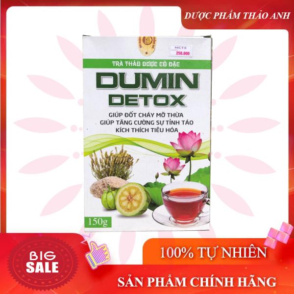 Trà giảm cân Dumin Detox giảm cân nhanh kích thích tiêu hóa hộp 150gr