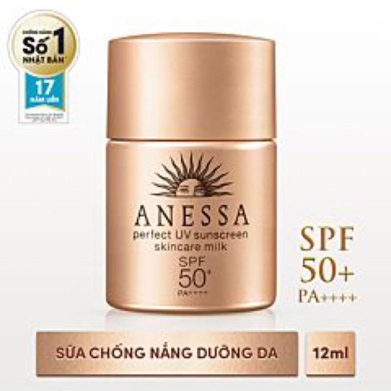 Sữa Chống Nắng Anessa Perfect UV Sunscreen Skincare Milk (12ml) nhập khẩu