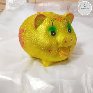 Lợn đất tiết kiệm đựng tiền size VỪA VIP KIM TUYẾN VÀNG cute đẹp giá rẻ TABILINE LD12 6