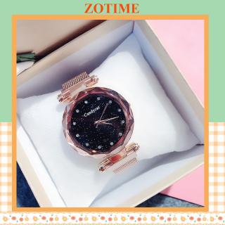 Đồng hồ nữ đeo tay đẹp Candycat dây lưới nam châm ZO19 thumbnail