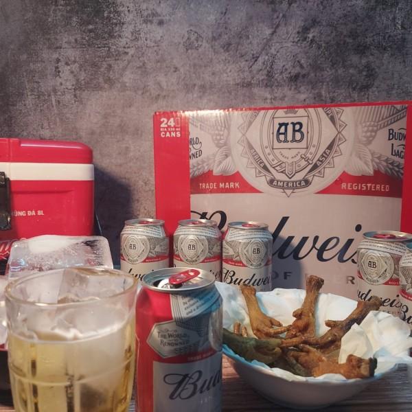 [Thùng 24 Lon] Bia Budweiser Lon 330ml Thơm Ngon Hảo Hạng Khác Với Bia Tiger 333 Sài Gòn
