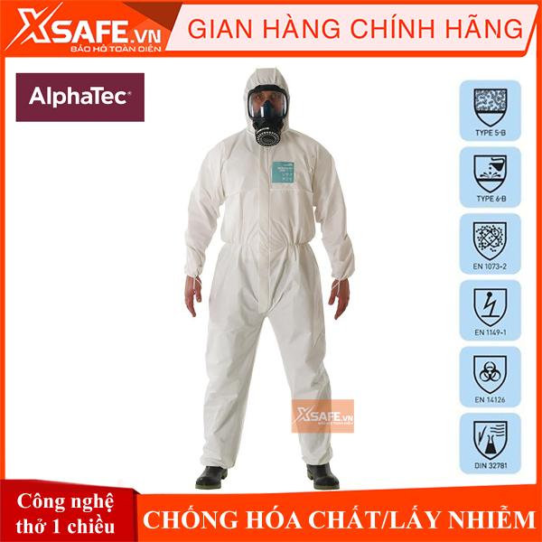 Quần áo chống hóa chất phòng dịch Alphatec 2000 Model 111 (Microgard 2000) Chống hóa chất - Chống lấy nhiễm ISO Type 5 Type 6
