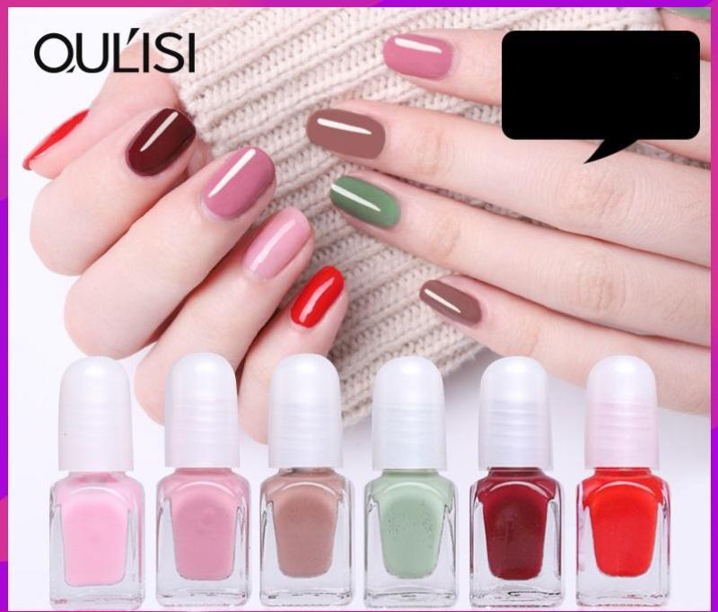 Set 6 chai sơn móng tay lột Oulisi Candy healthy nails polish-OC38-K05T3