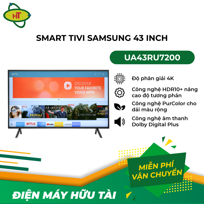 Bảng giá Smart Tivi Samsung 43 inch UA43RU7200