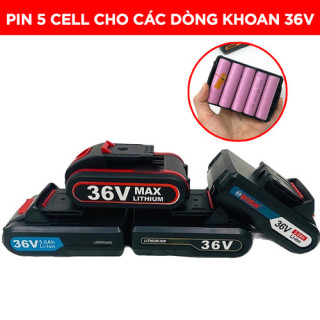 Pin 5 Cell Dùng Cho Các Dòng Máy Khoan Cầm Tay 36V - Pin Máy Bắt Vít Chuẩn 5 Cell - PIN_5_CELL thumbnail