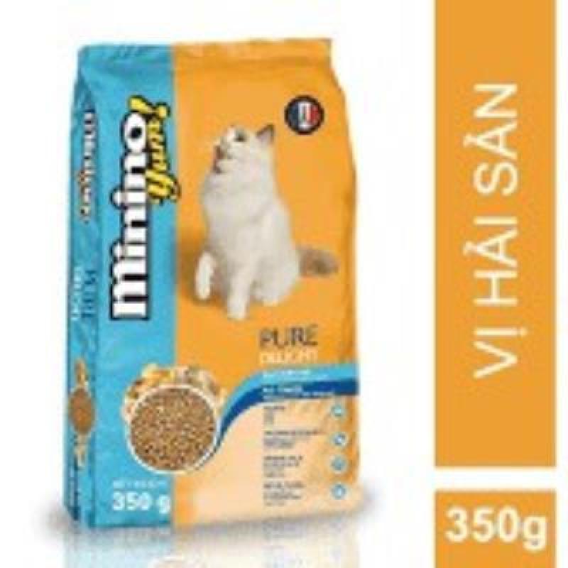 Gói 350g Minino Yum Vị Hải Sản Thức Ăn Hạt Cho Mèo