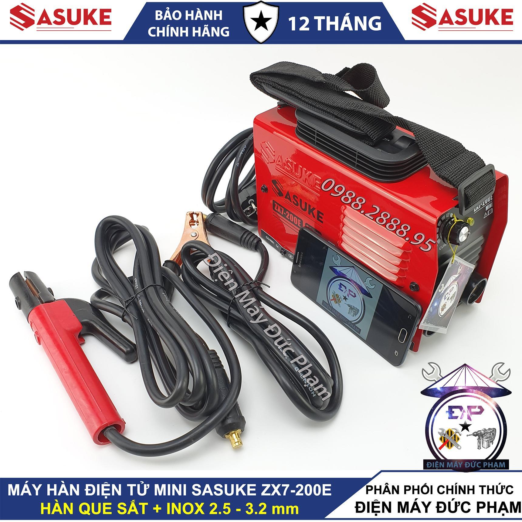 Máy hàn mini Sasuke ZX7-200E - bảo hành 12 tháng ,máy hàn que 200A , máy hàn điện tử , máy hàn mini gia đình
