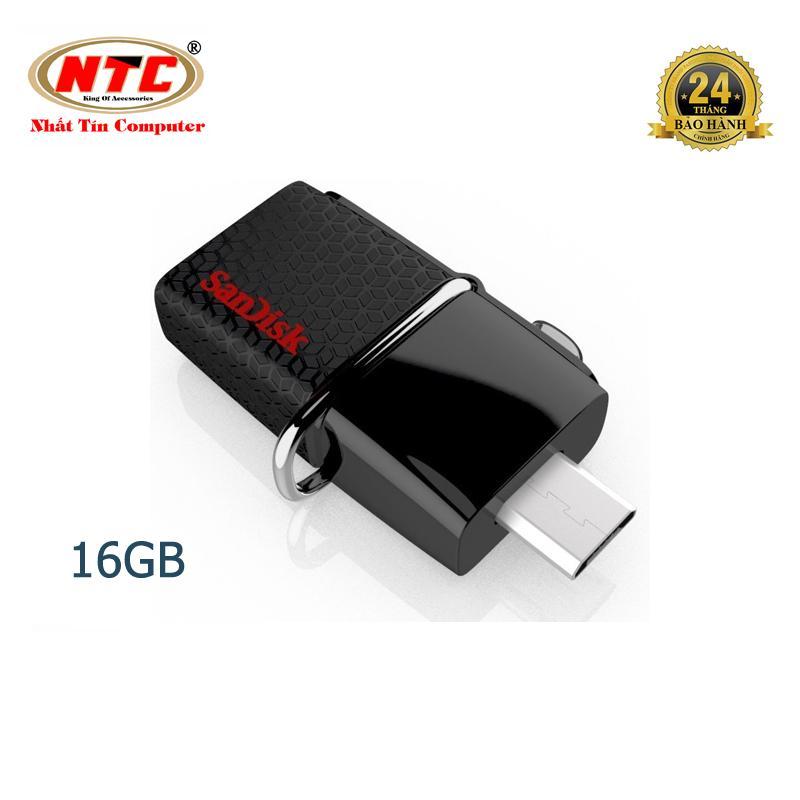 USB OTG Sandisk 3.0 Ultra Dual 16GB 130MB/s (Đen)