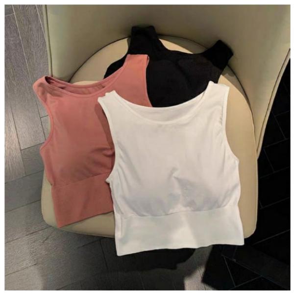 [ Freeship ] Áo bra trơn co dãn, áo lót su kèm miếng mút thoái mái đi chơi, tập yoga, gym