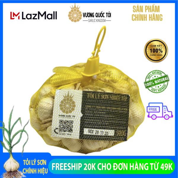 Tỏi Lý Sơn chính gốc - Vương Quốc Tỏi - túi 500g, nhiều tép loại original - chuẩn chất lượng, gia vị cho sức khỏe giá rẻ