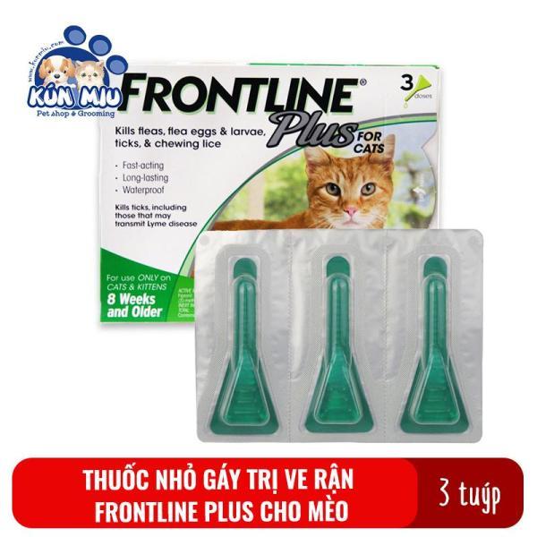 1 Hộp (3 Tuýp) Thuoc Nhỏ Gáy Trị Ve Rận Cho Mèo Frontline Plus 0.5Ml