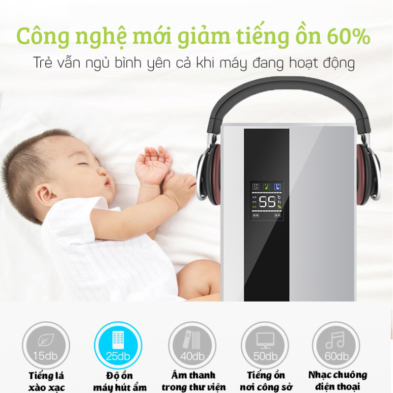 (BH 1 năm) Máy hút ẩm Yangzi CS-10E công nghệ hút ẩm Hybrid màn hình LED kèm điều khiển từ xa dung tích 2.2L