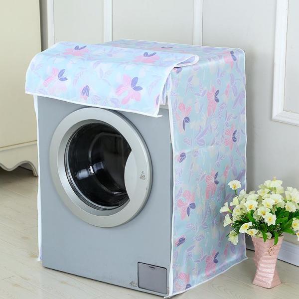 Áo Trùm Máy Giặt Cửa Ngang Vải Dù Size 9 - 10kg Hoa Văn Đa Dạng - Kara House - Gia dụng bếp