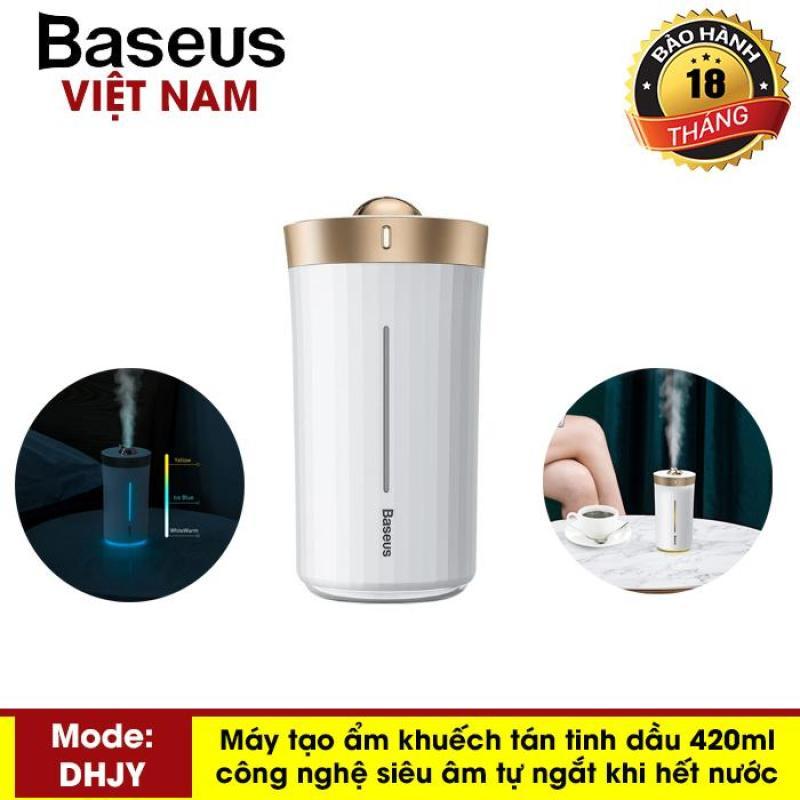 Máy phun sương tạo độ ẩm Baseus H420ml công nghệ siêu âm cho Văn Phòng , tại nhà,.. ( Tự động ngắt khi hết nước) - Phân phối bởi Baseus Vietnam