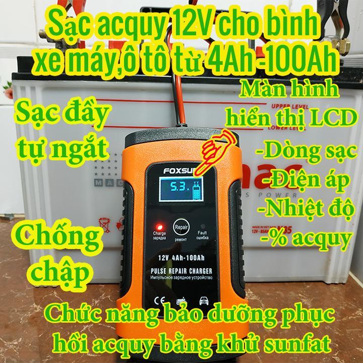 Siêu Tiết Kiệm Khi Mua Sạc Acquy 12V Cho Bình Acquy Xe Máy , Xe đạp điện , ô Tô