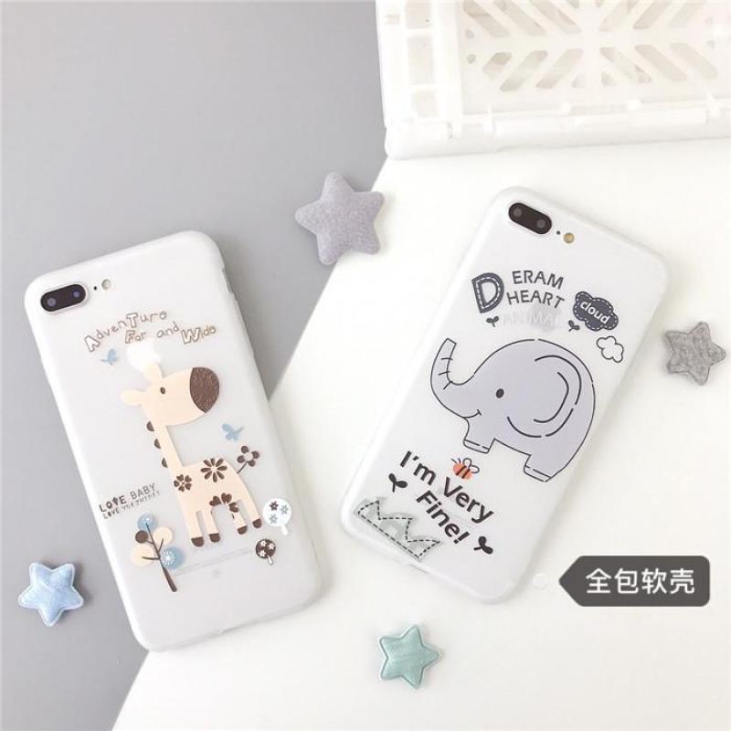 Giá Ốp điện thoại in hình chú Hươu voi dễ thương cho iPhone 6-6S 6-6SPlus 7-8 7-8Plus X XS XS MAX XR 11 11 pro max- ốp lưng iphone a40