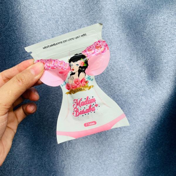 01 Gói Viên Uống Nở Ngực Madam Busaba Thái Lan Chính Hãng - Tăng Kích Thước Vòng 1 (Gói 7 viên) . giá rẻ