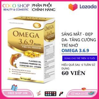 Dầu cá Omega 3.6.9 sáng mắt , đẹp da , tăng sức đề kháng hệ tim mạch thumbnail