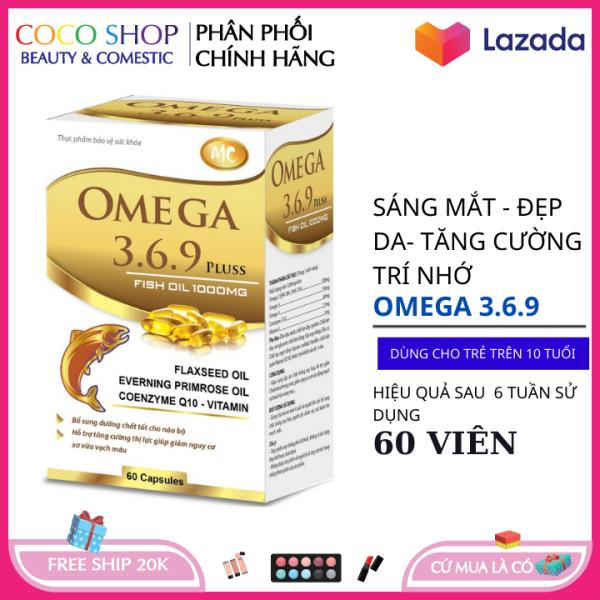 Dầu cá Omega 3.6.9 sáng mắt , đẹp da , tăng sức đề kháng hệ tim mạch giá rẻ