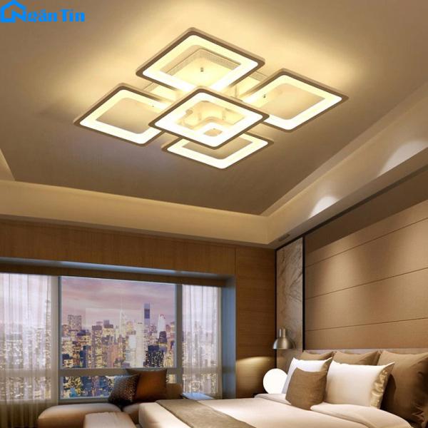 Đèn Mâm LED Ốp Trần Hiện Đại Trang Trí Phòng Khách Led 3 Chế Độ Màu MO904 Ngân Tin